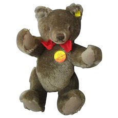 "Steiff Original Teddy Bear #0202/36 New Condition - Fully Articulated - 12"" - With Tags - Sweet!"