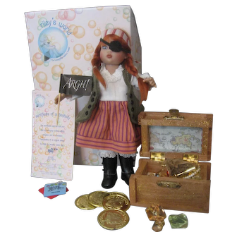 """Kish """"The Pirate""""  Riley Doll Fully Articulated, Painted Eyes, With Many Convention Extras"""