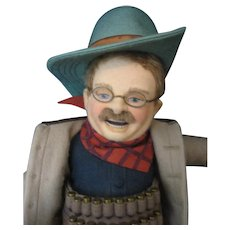 R. John Wright Teddy Roosevelt - Mississippi Bear Hunt - With Original Box and COA - Doll - 2002