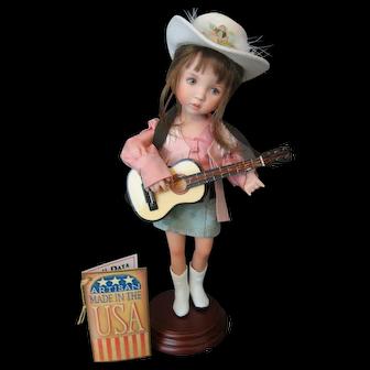 "Dianna Effner ""Lil Bit Country""  Porcelain Studio Doll 2007 Ltd to 175 Pcs -"