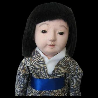Vintage Ichimatsu Japanese Doll - Gofun (Oyster Shell) - Working Squeaker