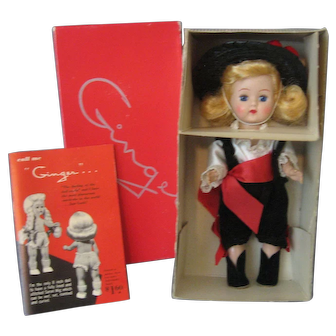 """Vintage """"Ginger Doll"""" - Cosmopolitan - In Her Box - With Original  Booklet - #556 Outfit - Walking Doll"""