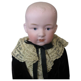 Antique Gebruder Heubach Character Boy Doll with Intaglio Eyes #6692