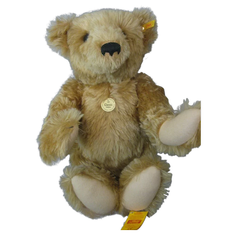 "Steiff Classic Teddy Bear - #000201 - 1903 Replica Bear- Large Size 55cm (20"") -  Blonde Mohair"