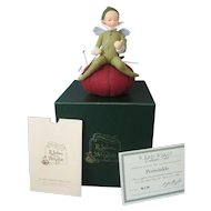 R John Wright - *PERIWINKLE* - 1998 Collector's Club Pincushion Doll - With Original Box & Certificate