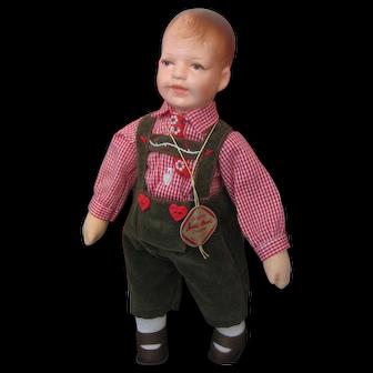 Kathe Kruse *RUDI* Doll With Original Box and COA