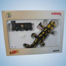 Steiff Salamander & Marklin Ho Train Car Set Mint In Box - #48806