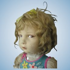 """Lenci - 109 - Vintage Doll - 22"""" - With Paper Label - 1920's -Beautiful Condition"""