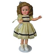 """Shirley Temple Vintage - 15"""" Doll - 1950's - Original Outfit with Tagged Dress"""