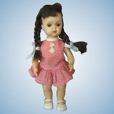 Tiny Terri Lee Vintage Doll - Tagged Dress - Long Lashes - Long Pigtails