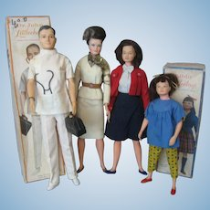 Littlechap Family by Remco - Dr. John, Lisa, Judy and Libby Dolls