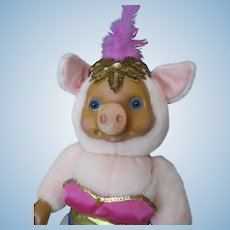 "Raikes ""Violet Pig"" Doll From the Circus Collection - Too Cute!"