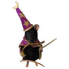 "R. John Wright ""Black Magic"" Halloween  Mouse - Original Box and Coa - Never Displayed - Doll - 2009"