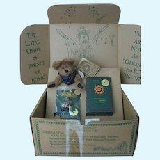 Boyd's Bears Collector Membership Kit, Bear, Pin, FIgurine - Uncle Elliot -