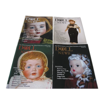 Doll News Magazines (4) 2007 Complete Year - UFDC