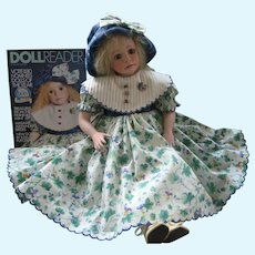 Julia Rueger Artist Doll *Katelyn* Ltd Ed Of Only 35 Dolls - Featured on 1994 Cover Of Doll Reader Magazine