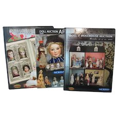 Morphy Doll Auction Catalogs - 3 Catalogs - 2 Are Hardcover and 1 Soft Cover - Beautiful Photographs of Dolls