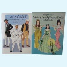 Tom Tierney Paper Dolls - Vivien Leigh & Clark Gable - Full Color