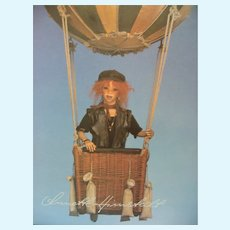 Himstedt Coffee Table Doll Book - Bill's Journey Around The World - Hardcover With Dust Jacket - 14x11x1 1997