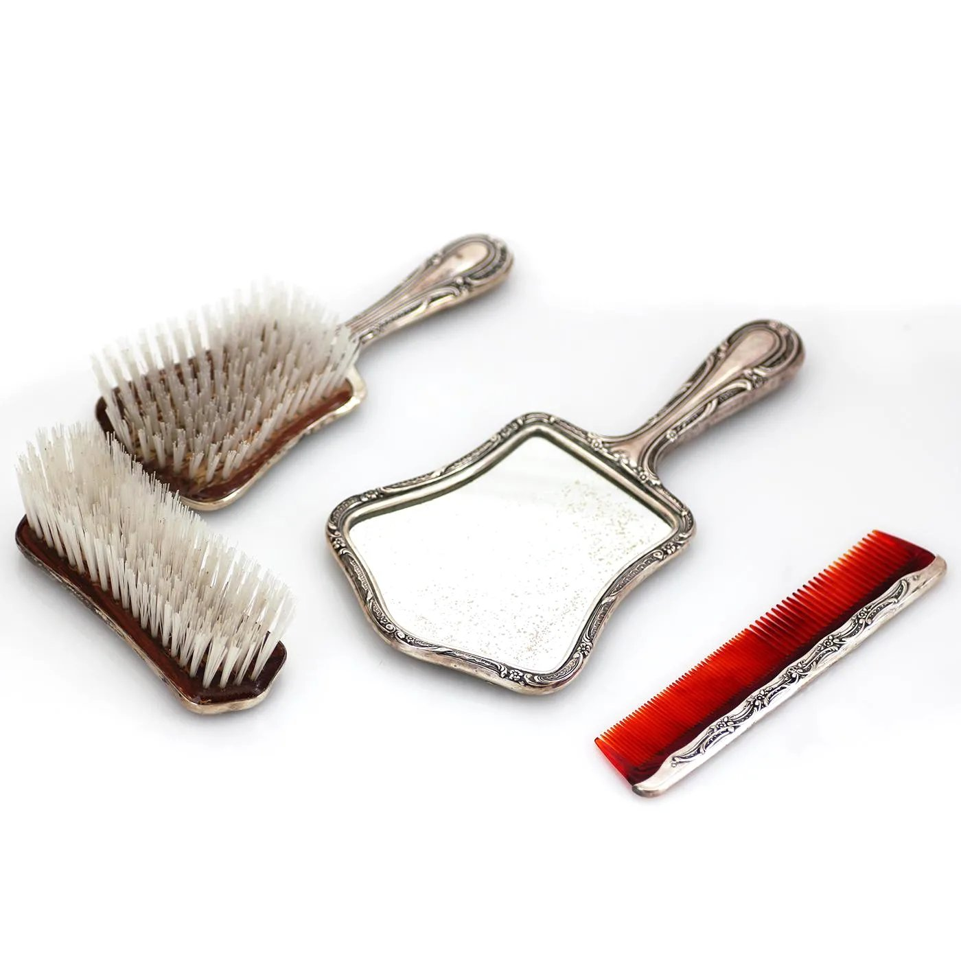 Gorham Sterling Silver 4 Piece Vanity Set Hair And