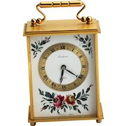 Imhof Bucherer Swiss 8 Day Wind Up Carriage Clock with Gilt Brass Case