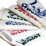 Six Days of the Week Kitchen Towels, Nice Cotton Fabric