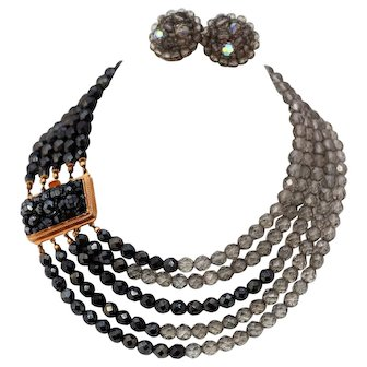 Coppola e Toppo Collar and Matching Earrings, 1960s
