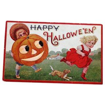1908 Embossed Halloween Postcard