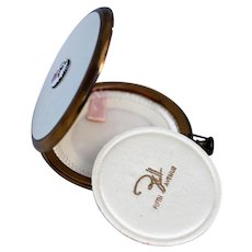 Superb Fifth Avenue Powder Compact, White Enamel Unused