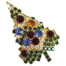 Eisenberg Christmas Tree Brooch Pin