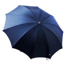 Unisex Umbrella Vintage 1950s Black Classic