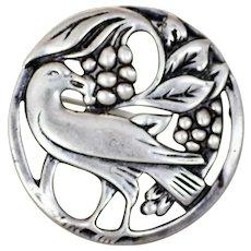 CORO Norseland Sterling Brooch Pin