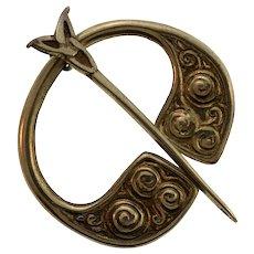 Vintage Scottish Sterling Silver Kilt Pin or Penannular