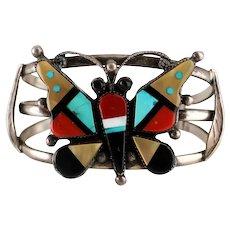 Zuni Mosaic Inlay Butterfly Bracelet