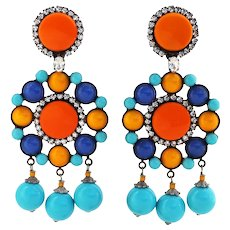 Vrba Chandelier Earrings – Bright Bold Big and Beautiful