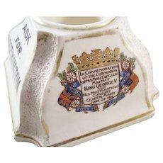 Advertising Piece - Worthington Matchstrike - Coronation Souvenir, 1911