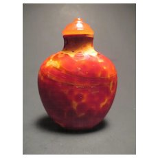 "A Chinese glass imitating ""realgar"" snuff bottle"