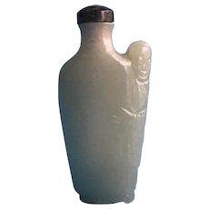 An old Celadon jade snuff bottle