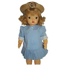 1950's Terri Lee 2-Piece Blue Suit and Straw Hat