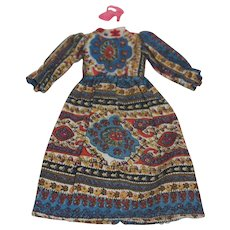 1970's Kenner Blythe Tagged Pretty Paisley Dress & 1 shoe