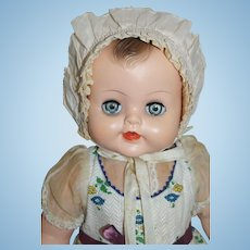 Pink Ruffled Bonnet for Large Baby Doll