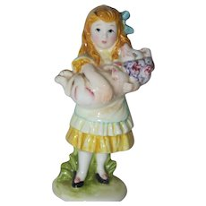 Alice and her Pig Bisque Figurine