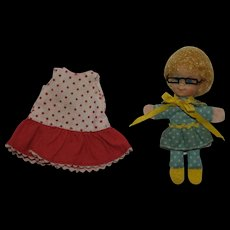 1968 Mattel Mrs. Beaseley doll with original GRANNY GLASSES and Buffy dress - Red Tag Sale Item