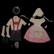 1960's Mattel Ken & Barbie Switzerland outfits - HTF BEER STEIN and PIPE - Red Tag Sale Item