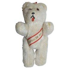 """1960's 4"""" German Berliner Plush Bear"""