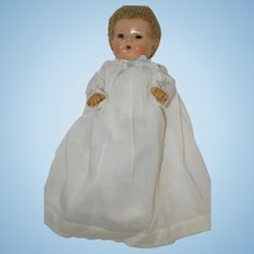 """1940's Christening Dress, Slip, and Oilcloth Booties for your 11"""" Dy-Dee, Tiny Tears, etc"""