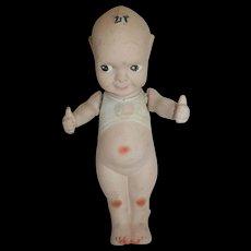 "Large Antique 8"" All Bisque Fumsup Kewpie Doll"