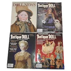 UFDC Doll News Fall 2017 & Antique Doll Collector Magazines November, December, and January