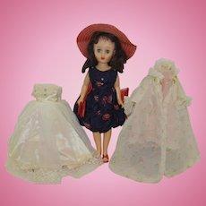 "1950's 14"" Fashion Doll with Wardrobe"