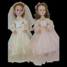 """1955 A.C. 18"""" Sweet Sue Bride and Brides Maid - all original"""